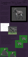Digital Furry Equines Tutorial by prints-of-hooves