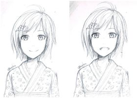 Girl in a Kimono by redhotcinnamontwist