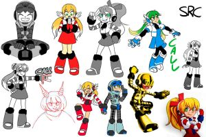 Assorted Mighty No. 9 by Shi-RC