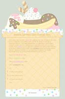 Banana Sprinkle Split Journal Skin by Cupcake-Kitty-chan