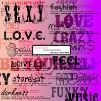 Brushes - Big text brushes by lilbrokenangel