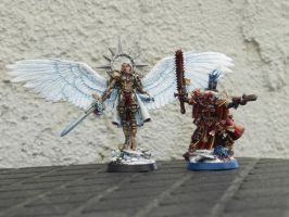 Canoness and Celestine by BloodCri
