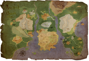 Kindred - Ancient Unova World Map by JuneRoseXX