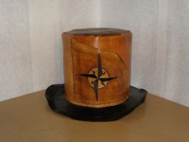 Captain's Leather Top Hat by wolfetrap