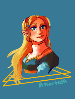 Zelda Bust by AssortedA-Art