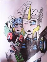 Transformers RID 2015 Anubis Aphrodite and the kid by Orion-Cross