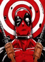 Deadpool sketch card by Grimmwerkz