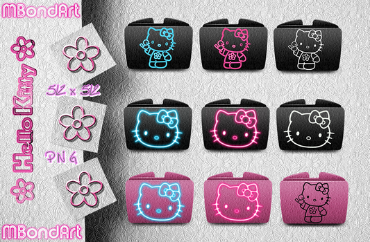 Hello Kitty Folders by Brunette28