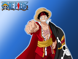 One Piece - Luffy by skajcere