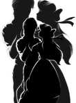 Silhouettes : Ariel and Eric by marionlalala