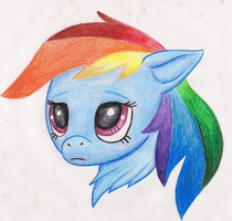 Rainbow dash portrait by Monodog22
