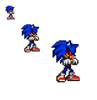 creepypasta sonic.exe sprite by bluehedghog