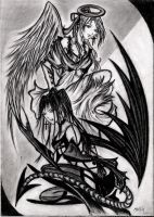 angel and demon by Meilily