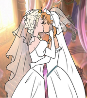 Elsanna wedding (drawing 2) by Arendellecitizen