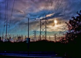 Industrial Sunset by lightzone