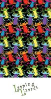 Leaping Lizards frog pattern by estranged-illusions