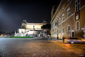 night scene in Rome by Rikitza