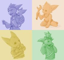 Baby Gremlins and Co by Tevokkia