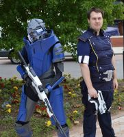 Mass Effect Garrus and SHepard cosplays by Zelvyne
