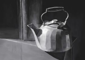 Painter Practice: Kettle Still Life by snowny