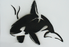 Orca Stencil by Gordorca