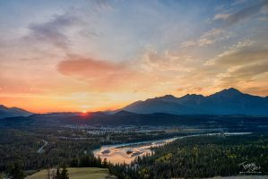 Sunset over Jasper by voogac