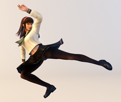 3DS Render Request: Hitomi 3 by x2gon
