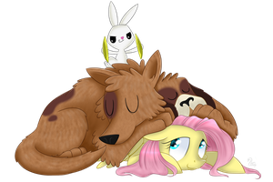 Sleep well, doggy by SwanLullaby