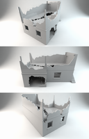 Destroyed house 3D model by MarinGregoric