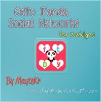 Osito Panda Social Networks for XWidget by MayteKr