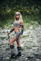 Barbarian / Pixie Style Top and Skirt and boot cov by AngelWolf22