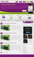 layered PSD template Web 2.0 by webodream