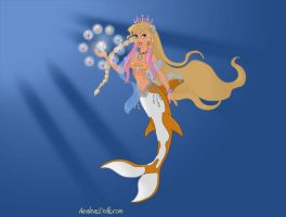 Azalea Coralia The Golden Shine Mermaid by starryfan