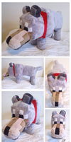 Minecraft Wolf Plush by DizzieDoodles