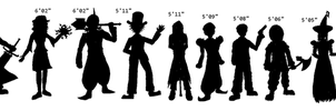 Height Chart -- Guardians of the Barfoo by FnrrfYgmSchnish