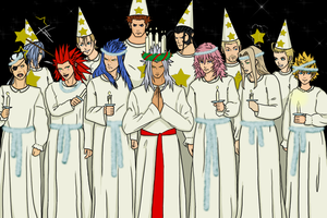 Organization XIII celebrates Lucia by Kozekito