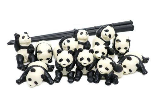 Cute Panda Bears and Sticks by mesash