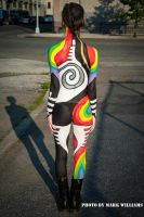 Yin and Yang Body Paint by charlala-bodypaint
