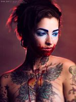 Blue Equals Blood by DinaDayMakeup