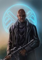 Nick Fury by alecyl