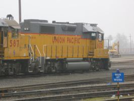 UP GP38-2 605 by BNSF