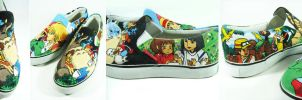 studio ghibli lover , custom shoes painted by Annatarhouse