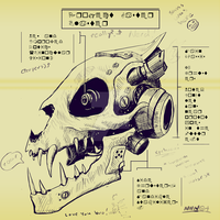 Gaster Blaster Schematics. (feat. Sans) by Doghearted296