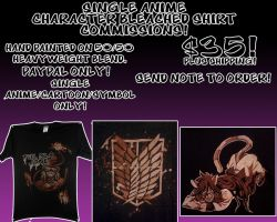 Bleach Shirt Commissions Open by anotherclichejrocker