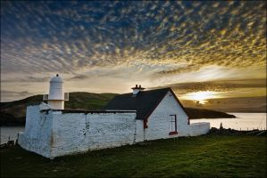 Dingle Lighthouse at sunset by ketscha