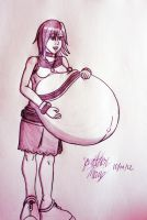 Art Request: Very Pregnant Kairi by JAM4077