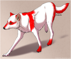 Red and white Wolf 10pts Adoptable SOLD by Jiel