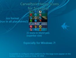Carvalho's happy icons for W7 by Vinis13