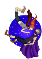 Yogscast Zoey and Rythian:Flying Amongst the Skies by kuraikitsune13