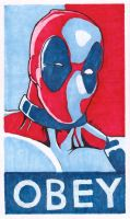 OBEY - Deadpool by 12me3